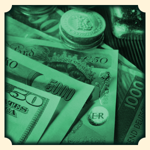 sen pieniądze sennik monety