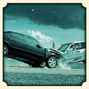 Wypadek samochodowy sennik